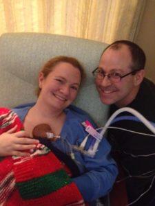 Rory at 2 weeks – 1st Kangaroo Care (Christmas Day 2012)